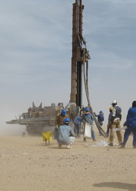 Picture with Drilling Rig in the desert